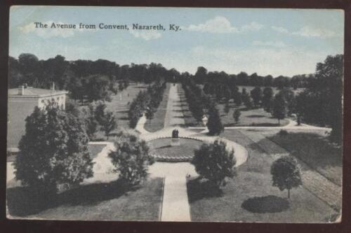 Postcard Nazareth KY Convent Grounds Aerial view 1907?
