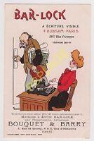 PUBLICITE AFFICHE MACHINE A ECRIRE BAR-LOCK Bouquet & Barry - Ill. GRIGNON