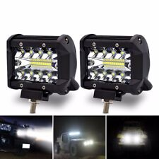 Safego 2 x 4Inch 60W LED Work Light Bar 12V Spot Chips Offroad 4x4 Driving Lamp