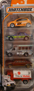 MATCHBOX CITY ADVENTURE 5 PACK FORD CROWN VICTORIA TAXI CAB TOW TRUCK TRANSIT