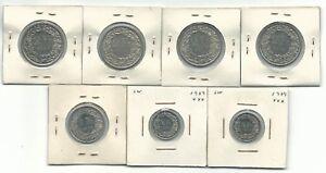 Switzerland-7-Coins-Mix-1-2-1-2-Francs-1973-1973-1975-1978-1979-Some-UNC-Lot