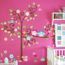 Art Forest Owl Tree Quote Jungle Wall Sticker Wall Decor Kids Room Decal Mural