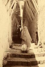 Gasse in Algier, Geiser, Original-Albumin-Photo von ca. 1880