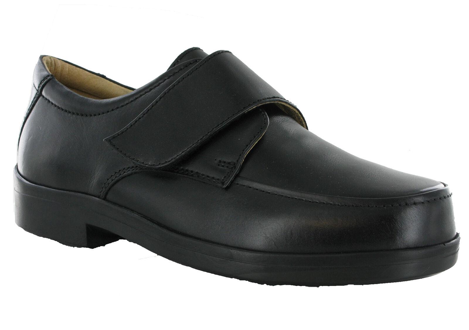 Usuarios itinerantes Extra Ancho Cuero Ligero Hombre EEE Ajuste Ajustable para Hombre Ligero Zapatos ab1292