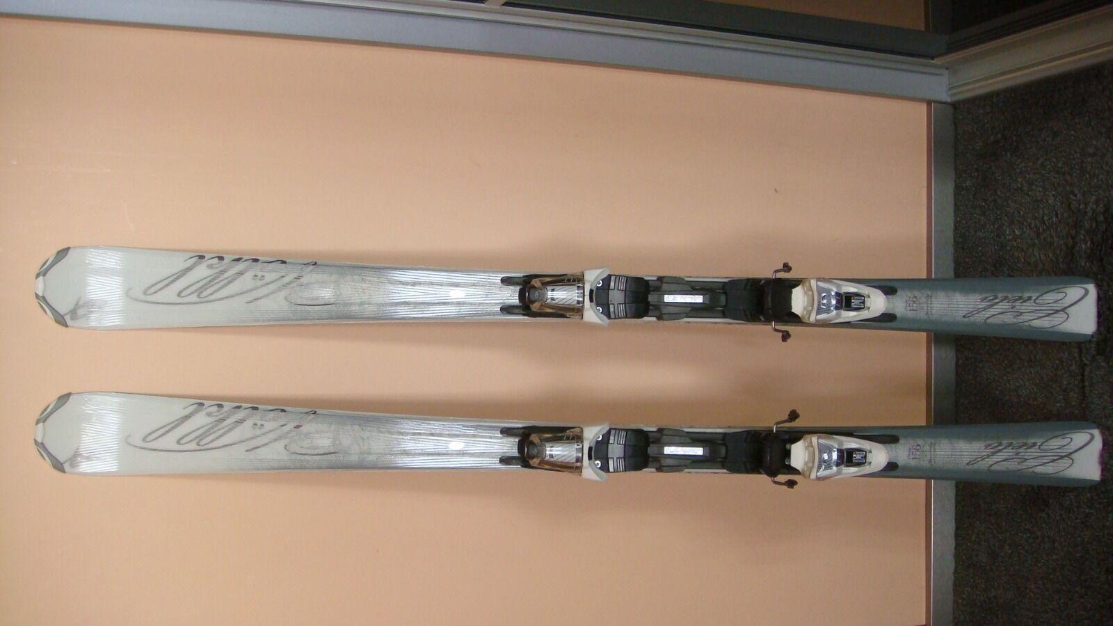 Völkl Attiva Cielo 156 cm Ski Damen Weiß/Silber Weiß/Silber Weiß/Silber + Bindung Marker LT10 437b20