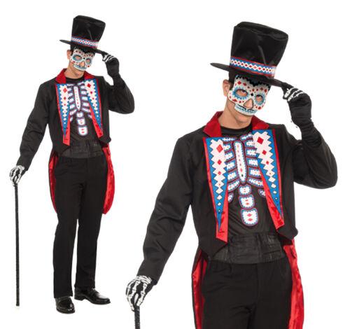 Adulte homme longue queue costume costume robe fantaisie le jour des morts tenue halloween