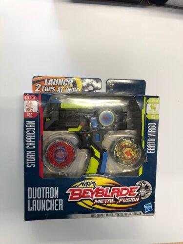 Beyblade Metal Fusion Duotron Launcher Storm Capricorn vs Earth Vigo