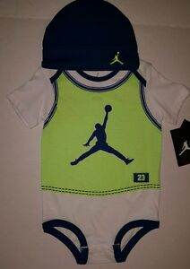 088d81bf6cad Nike Air Jordan JORDAN JUMPMAN JERSEY CREEPER SET Outfit Size 3-6 ...