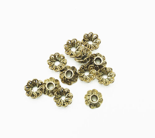 Solid Brass Double Swirl 8mm Beadcap Findings Q20