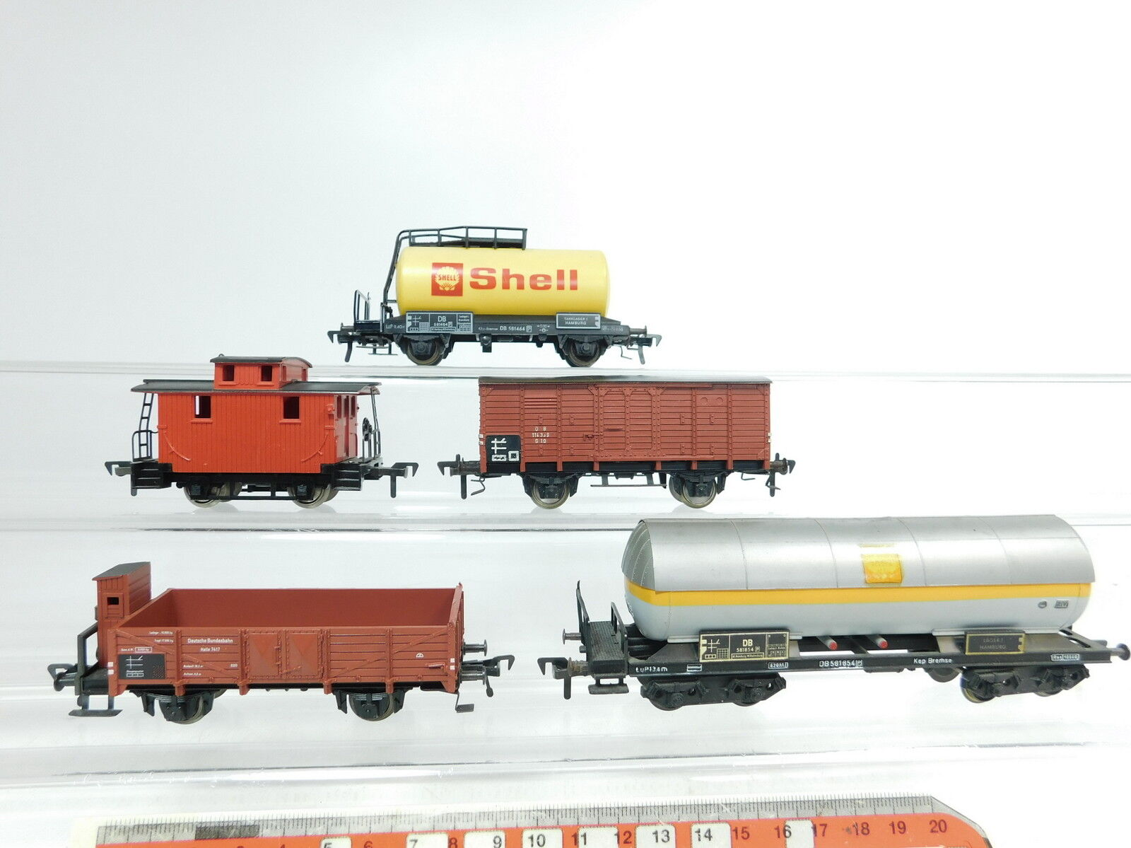 Bb139-1x Fleischmann h0 dc freight cars etc DB US  581854 581464 Shell etc