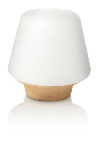 1 x Philips Ecomoods 240v Bedside Lamp 15 W Wood