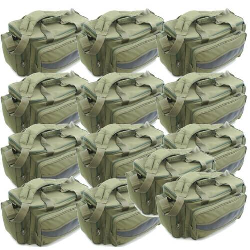 10 x wholesale Green Carp Coarse Fishing Tackle Bag Holdall Quality NGT Bag 909
