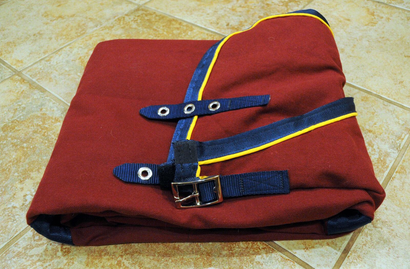 NEW Triple Crown, stable sheet, Burgundy, 76, MRSP  189 cooler blanket