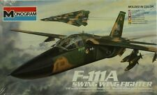 Monogram 1:48 F-111A Swing Wing Fighter Plastic Model Kit #5804U
