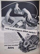 PUBLICITÉ 1957 ASTRA POUR TOUS LES PLATS FILET DE BOEUF - ADVERTISING