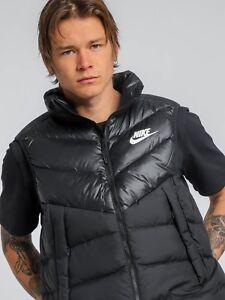 09d8e7a40e1d Image is loading Nike-Sportswear-Windrunner-Down-Fill-Gilet-Vest-Black-