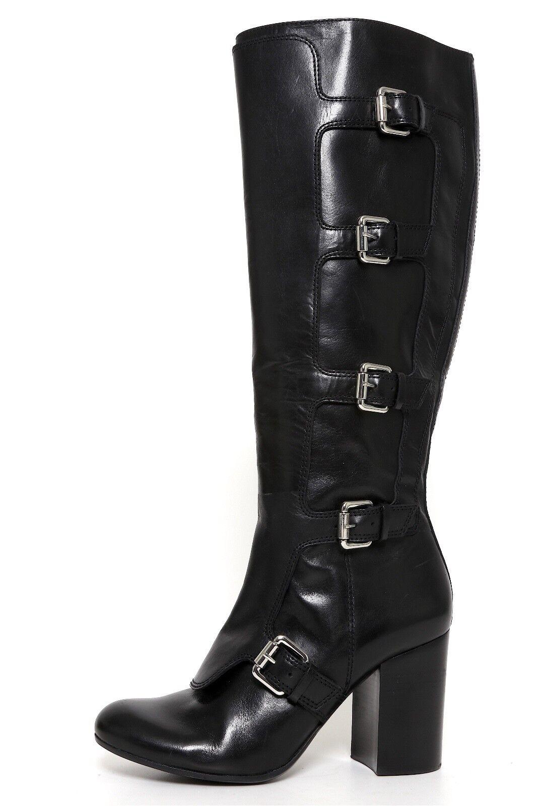 Vince Camuto Kyria Leather Buckle Boots Black Women Sz 8.5 M 6507
