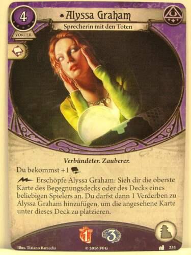 1x #232 Alyssa Graham-sans visage et invisible Arkham Horror