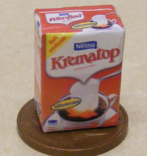 1:12 Scale Empty Krematop Non Dairy Coffee Creamer Packet Tumdee Dolls House