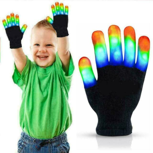 LED Gloves Light Up Kids Toys Boys Girls For Age 5 8 Trick ...