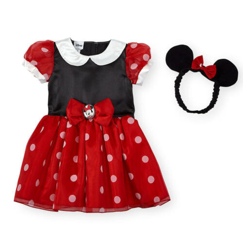 Disney MINNIE MOUSE Infant Costume Tutu Dress Up Baby Fancy Party 3 6 9 12 Ears