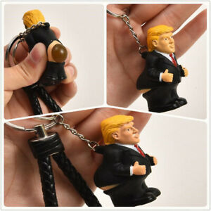 New-Donald-Trump-Poop-Keyring-President-Squeeze-Funny-Key-Chain-Novelty-Fun-Toy