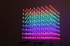 AuraCube 8x8x8 3D RGB LED Cube DIY Kit Full Color (PCB Soldered + no hard case )