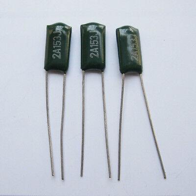 50PCS Polyester Film Capacitor Radial 2A153J 2A153 153 100V 0.015uF 15nF 15000pF