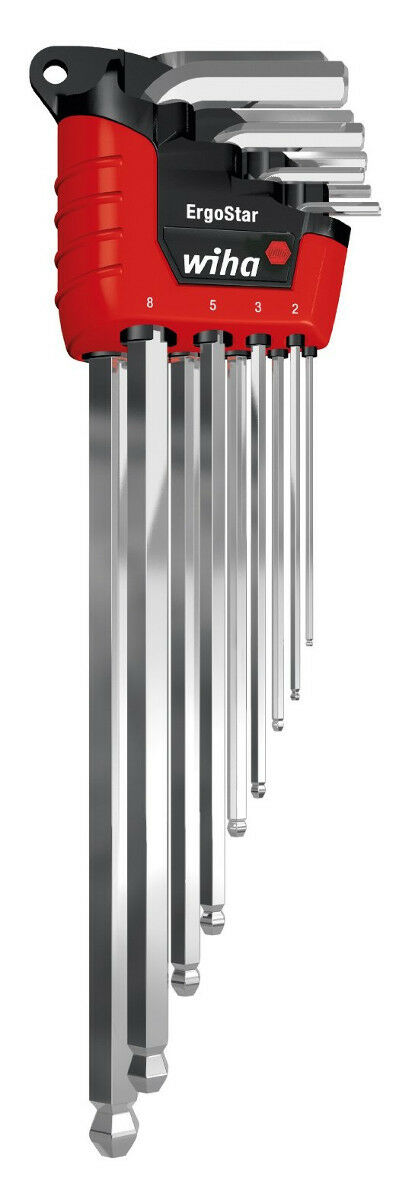 Wiha SB369H9S Hex Key Set Metric ErgoStar 1.5-10mm 9-Piece