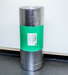 10m Double Foil Bubble Insulation 4mm Heat Reflective Thermal Roll Loft Roof Uk 783101461450 Ebay