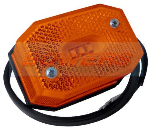 AMBER LED SIDE MARKER LIGHT LAMP IFOR WILLIAMS BRIAN JAMES TRAILER AS ASPOCK
