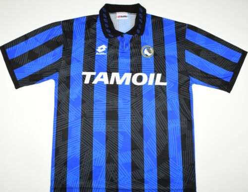 19911993 ATALANTA LOTTO HOME FOOTBALL SHIRT SIZE L