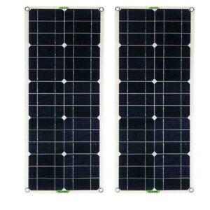 2pcs panel solar panel solar 100 vatios 12v 12 voltios solar celda solar monocristalino