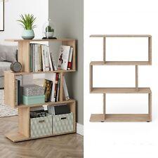 Large Room Divider Oak Shelving Unit Modern Bookcase Storage Display Cabinet New