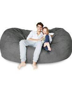 Home Decor Furniture Grey 7 Ft Bean Bag