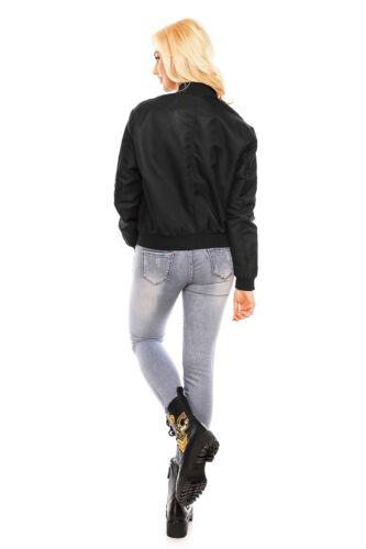 Damen Jacke Bomberjacke Übergangsjacke Parka Weste Mantel Luxus Blogger WS-903