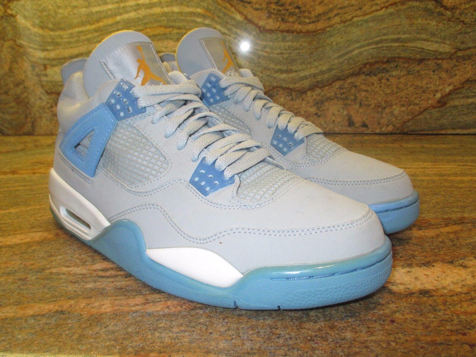 2006 Nike Air Jordan 4 IV Retro LS SZ 10.5 Mist University bluee gold 314254-041
