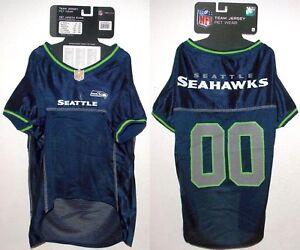 NFL Seattle Seahawks Football Dog Puppy Team Fan Gear Jersey Mesh ... 527cd7889