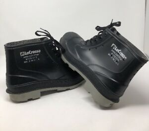 54ad3c7b712 Details about LaCrosse Rubber Work USA MADE Boots STEEL TOE Sz 12 ANSI Z41  PT99 Black