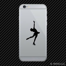 (2x) Figure Skating Cell Phone Sticker Mobile ice skating many colors