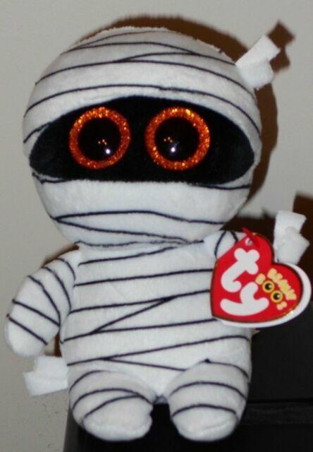 6 Inch MUMMY the Halloween White Mummy Ty Beanie Boos NEW MWMT