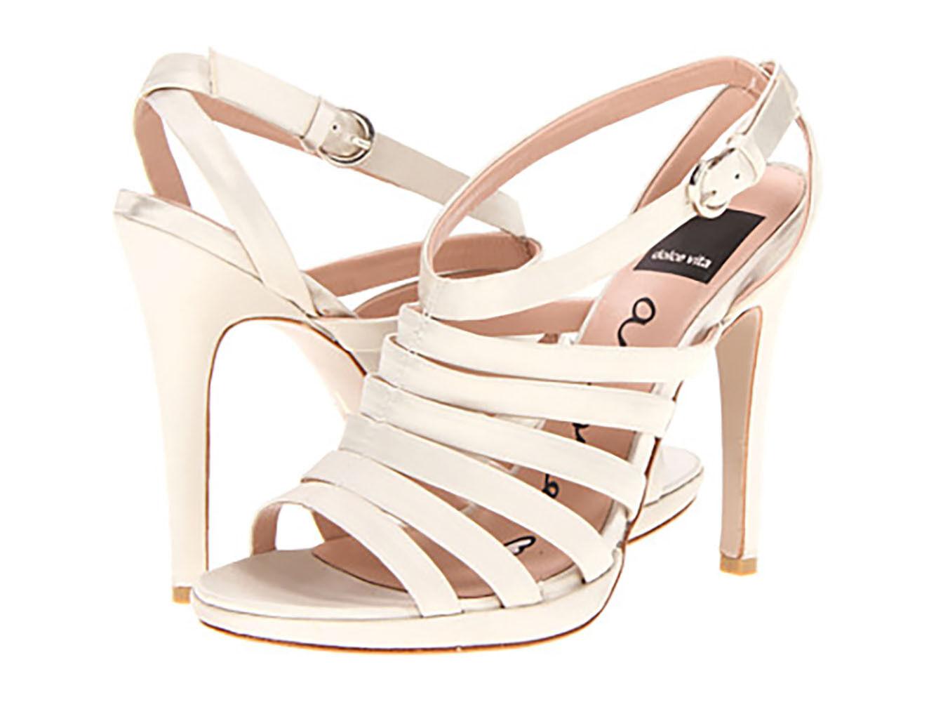 Dolce Vita Size 8 M Elegant Riso Ivory Satin Platform high heels  199, New