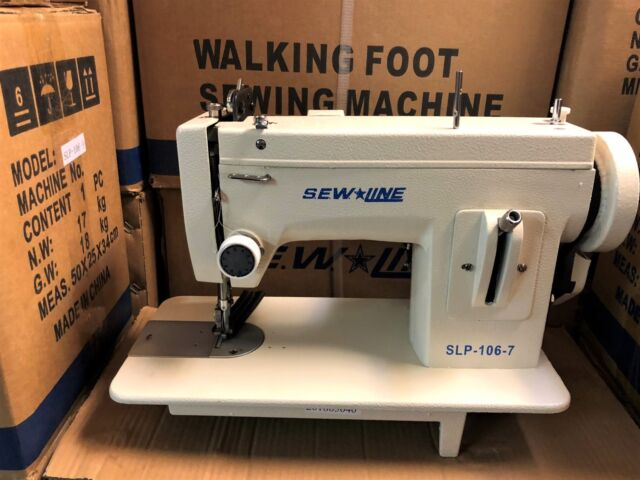 Sewline 40portable Walking Foot Zig Zag Case Extras Industrial Sewing Magnificent Portable Industrial Sewing Machine