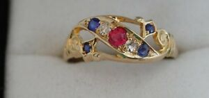 Wonderful-unusual-Ruby-amp-Diamond-Gypsy-Ring-Circa-1917