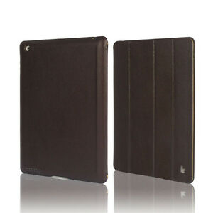 Jisoncase-Brown-High-Quality-Micro-Fiber-Case-Cover-For-Apple-New-iPad-2-and-3rd