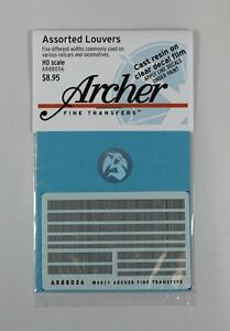 Archer-HO-Scale-1-87-Railway-Resin-Louver-Assortment-Mix-5-widths-AR88056