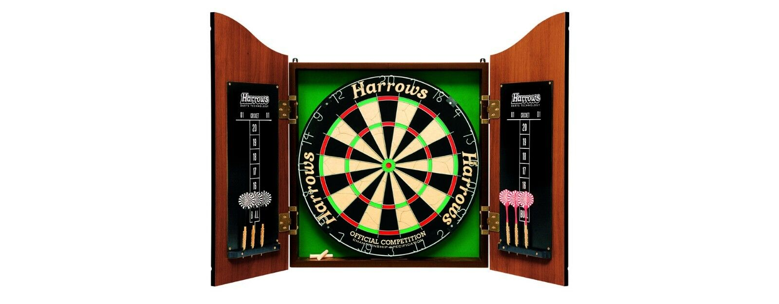 Harrows Pro Choice Complete Darts Set Dartboard and Cabinet