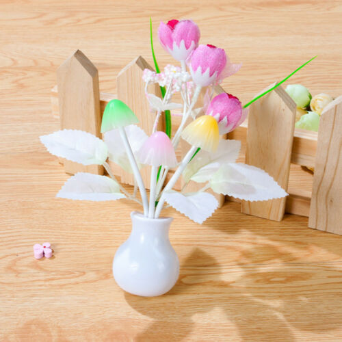 Fantastic Tulip Mushroom Light Sense Control Led Night Light Adapter Wall Lamp