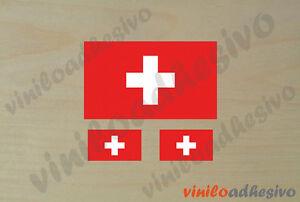 Pegatina Sticker Vinilo Bandera Suiza Switzerland Swiss Flag Aufkleber Suppression De L'Obstruction