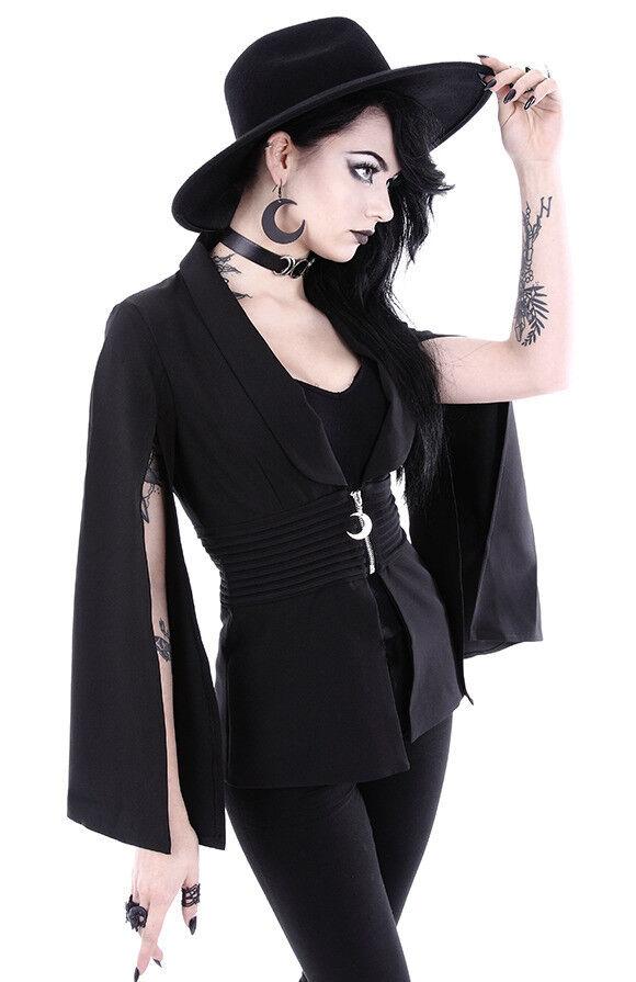 Restyle Göttin Gothik Mond Punk Emo Rocker Umhang Ärmel Erwachsene Damenjacke